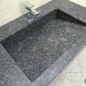 Steel Grey - Waschtischanlage mit Schrägablauf